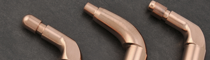 Round copper electrode holder for spot welding