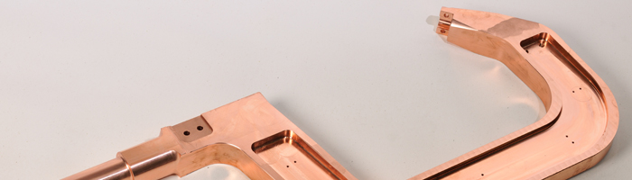 Copper arm for spot welding